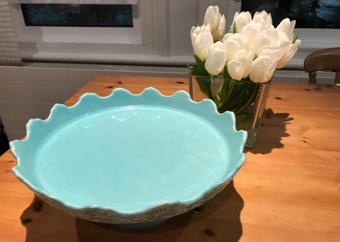 Blue porcelain cake stand - 2