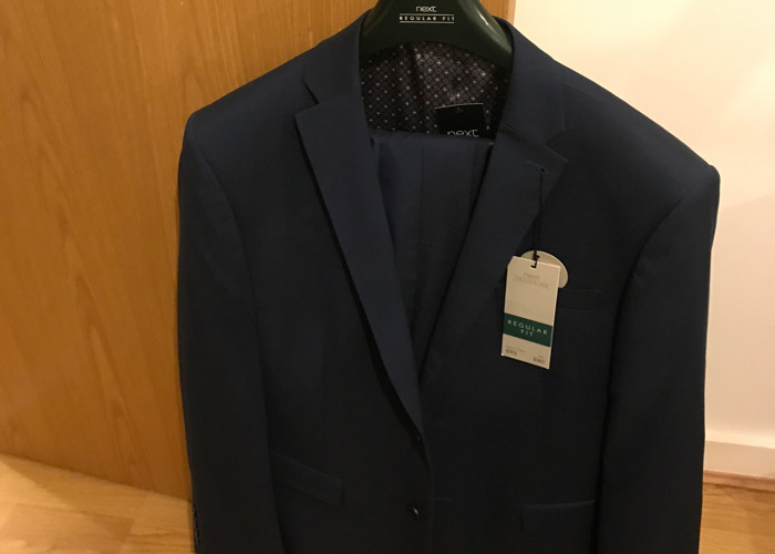 Blue Suit 42R Blazer 36/30 Trousers - 1