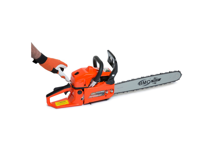 BMC 20'' Easy Start 55cc Chainsaw with 1 Litre Chain Oil & Storage / Carry Bag - 2