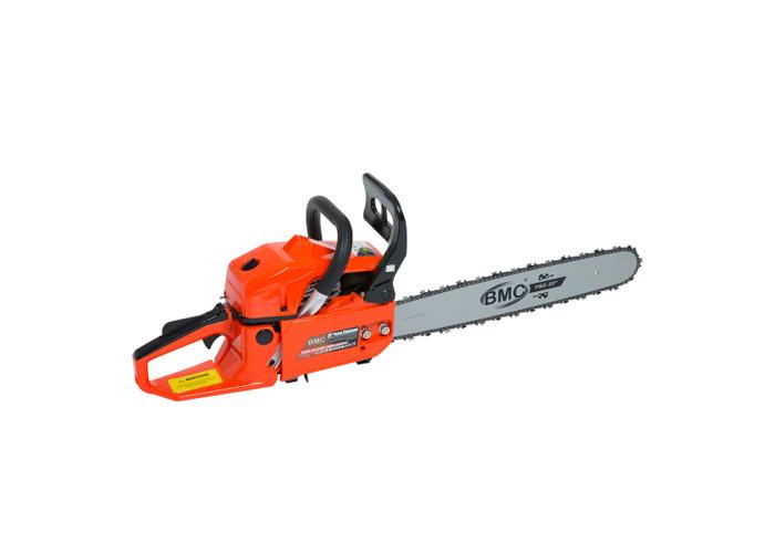 BMC 20'' Easy Start 55cc Chainsaw with 1 Ltr Chain Oil, 1 Ltr 2 Stroke Oil, Bag & Safety Helmet - 1