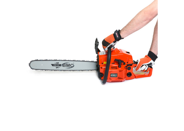 BMC 20'' Easy Start 55cc Chainsaw with 2 Oregon Chains & Storage / Carry Bag - 2