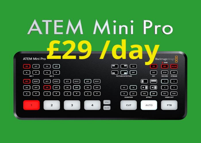 ATEM Mini PRO HDMI Live Stream Switcher and Recorder Blackmagic Design - 1