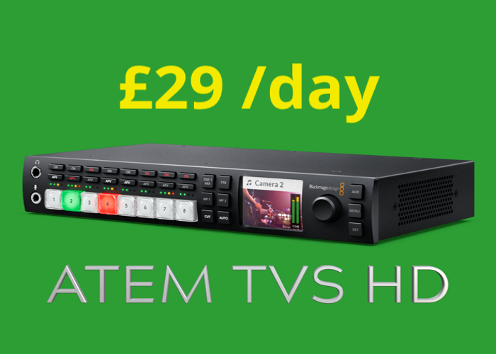 ATEM Television Studio HD (HDMI & SDI Switcher / Vision Mixer) Blackmagic TVS (for live stream & edit) Blackmagic Design  - 1