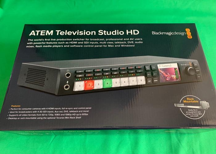 ATEM Television Studio HD (HDMI & SDI Switcher / Vision Mixer) Blackmagic TVS (for live stream & edit) Blackmagic Design  - 2