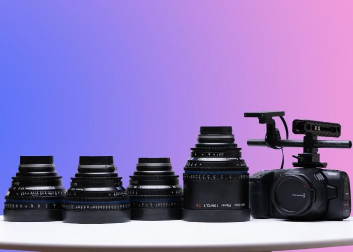 BMPCC 6K Package (5) + 4 Zeiss CP2 Cinema Prime Lenses 21mm / 35mm / 50mm / 100mm + 1TB SSD + 3 Batteries Kit - Blackmagic Design Pocket Cinema Camera 6K EF - 1