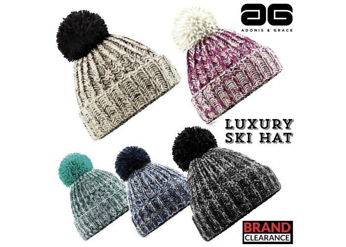 b4548e6d1 Buy Bobble Beanie Ski Hat Knitted Mens Ladies Fashion A&G ...