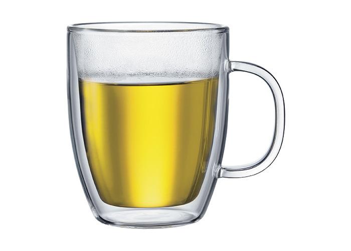 Bodum Bistro 0.45 L 15 oz 2-Piece Jumbo Mug - Double Walled - 1