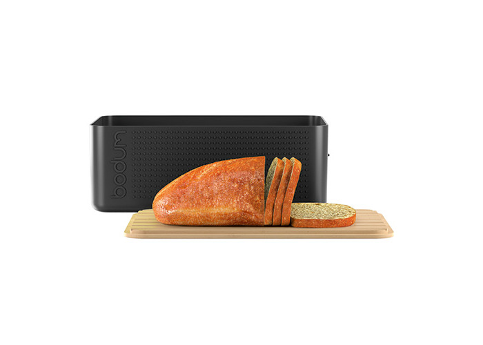 Bodum Bistro Bread Box Bin with Bamboo Lid in Black - 2
