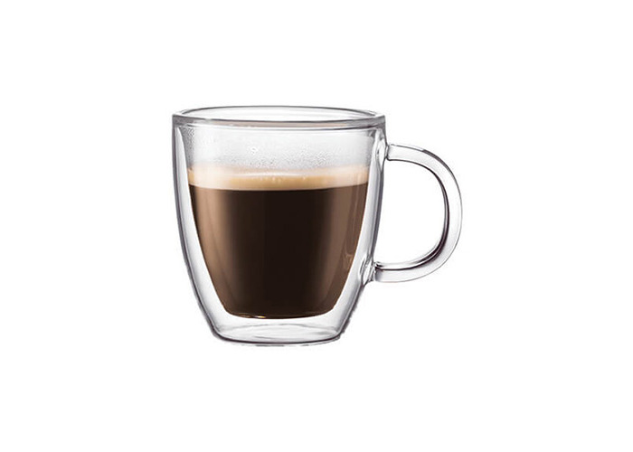 Bodum Bistro Double Wall Glass Espresso Mug Set Of 2 - 1