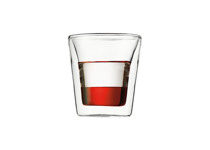 Bodum Canteen Double Walled Glasses, Set of 2 - 3 Oz - 1