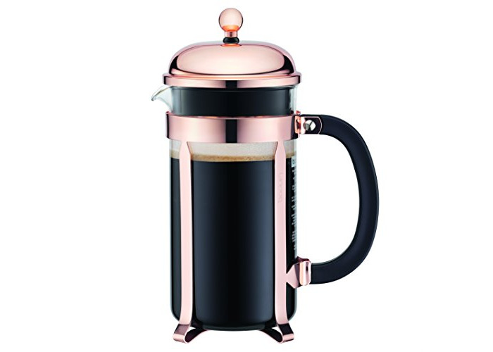 Bodum CHAMBORD Coffee Maker (French-Press System, Stainless Steel Frame, 1.0 L/34 oz, 8 Cup) - Copper - 1