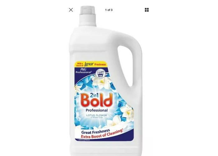 Bold Professional Liquid Detergent Lotus Flower & Lily 5 Litre 100 Washes - 1