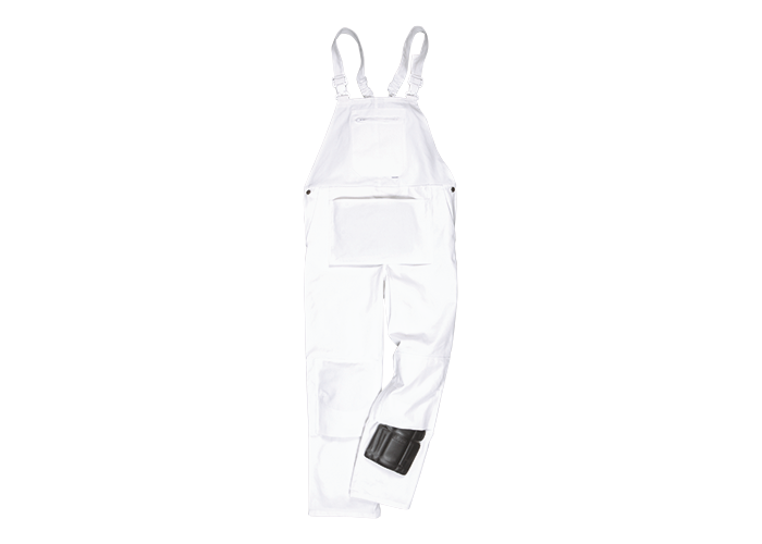 Bolton Painters Bib  White  4XL  R - 1