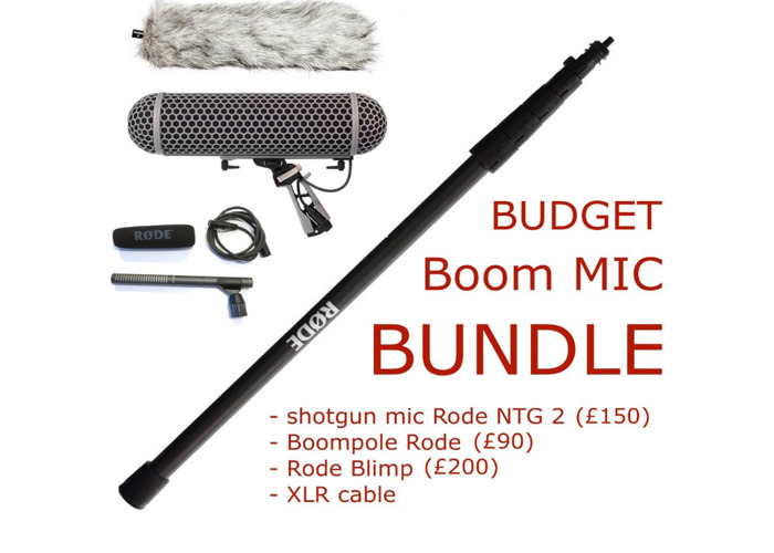Boom Mic bundle (shotgun mic rode ntg 2, boompole, xlr cable, blimp, 416, wind protector, boommic) - 1