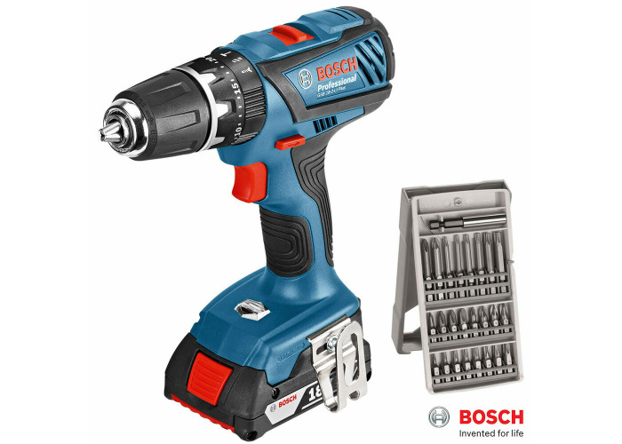 Bosch GSB 18 LI-2 Lithium-Ion Plus Professional Combi Drill with 4.0Ah Battery P - 1
