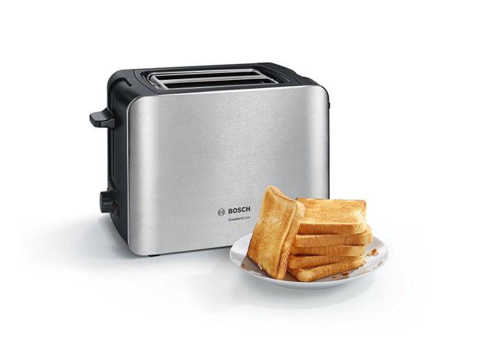 Bosch TAT6A913GB Comfort Line 2-Slice Toaster - 2