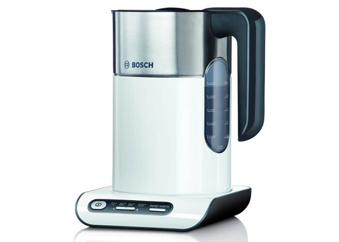 Bosch TWK8631GB Styline Collection Kettle, 1.5 L - White/Silver - 1