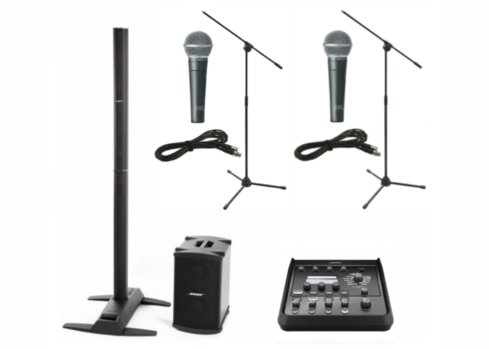 Bose L1S with B2 Bass and Tonematch T4S, Shure SM58 x 2 with mic stand - 1