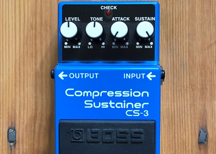 Boss Compression Sustainer CS-3 Guitar Compressor Pedal - 1