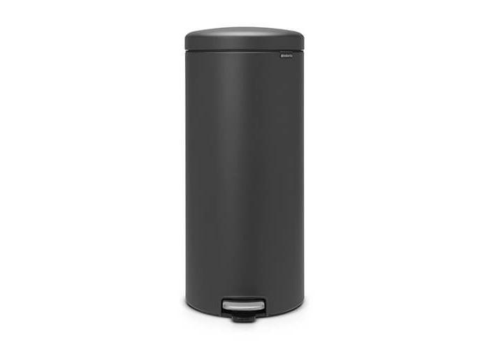Brabantia 114663 30L Round Plastic Grey trash can - trash cans (30 L, Round, Plastic, Grey, Pedal, Plastic) - 1