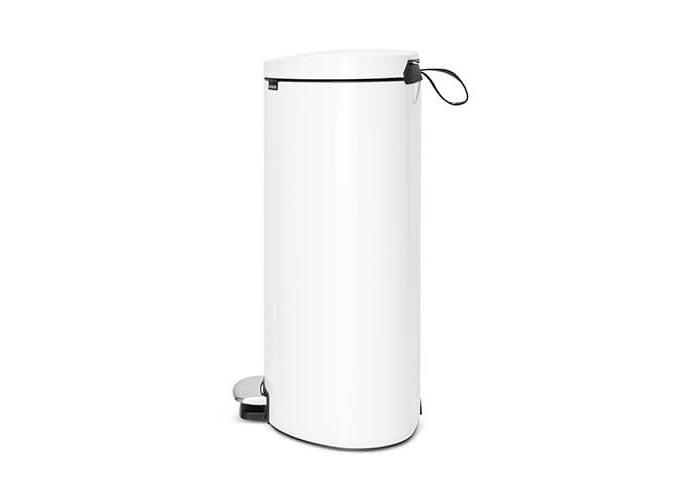 Brabantia FlatBack+ Silent Pedal Bin, 40 L - White - 2