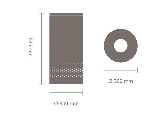 Brabantia Laundry Bin With Metal Lid, 35L - Matt Steel - 2