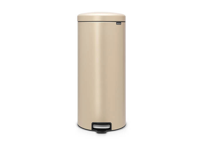 Brabantia Newicon Sense of Luxury Pedal Bin, 30 Litre - Golden Beach, Mineral Golden Beach - 1