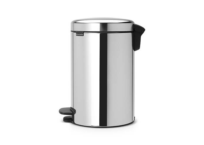 Brabantia Pedal Bin newIcon with Plastic Inner Bucket, 12 Litre - Brilliant Steel - 2