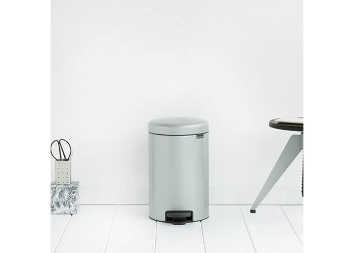 Brabantia Pedal Bin newIcon with Plastic Inner Bucket, 12 Litre - Metallic Grey - 2