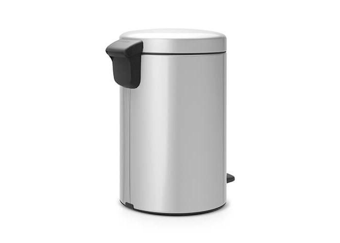 Brabantia Pedal Bin newIcon with Plastic Inner Bucket, 12 Litre - Metallic Grey - 1
