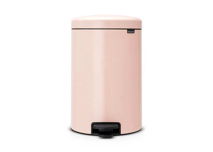 Brabantia Pedal Bin newIcon with Plastic Inner Bucket, 20 Litre - Clay Pink - 1