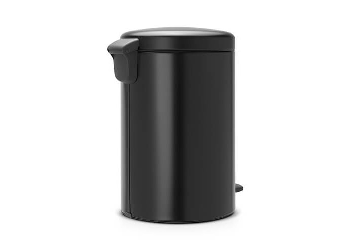 Brabantia Pedal Bin newIcon with Plastic Inner Bucket, 20 Litre - Matt Black - 2