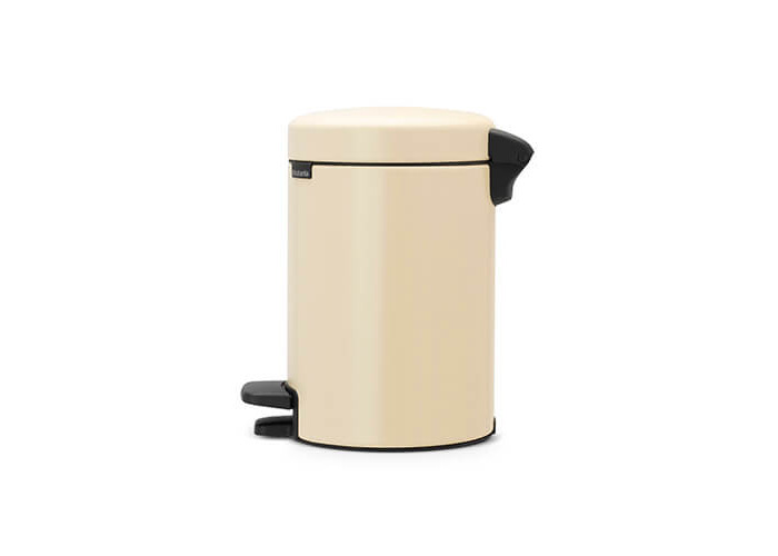 Brabantia Pedal Bin newIcon with Plastic Inner Bucket, 3 Litre - Almond - 2