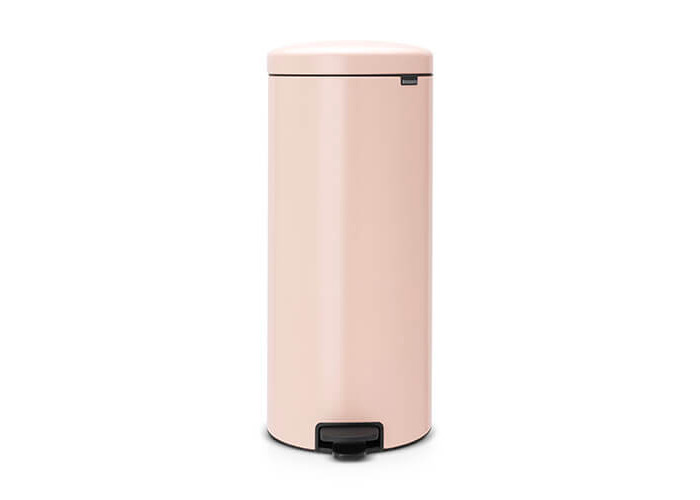 Brabantia Pedal Bin newIcon with Plastic Inner Bucket, 30 Litre - Clay Pink - 1