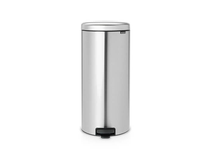 Brabantia Pedal Bin newIcon with Plastic Inner Bucket, 30 Litre - Matt Steel Fingerprint Proof - 1