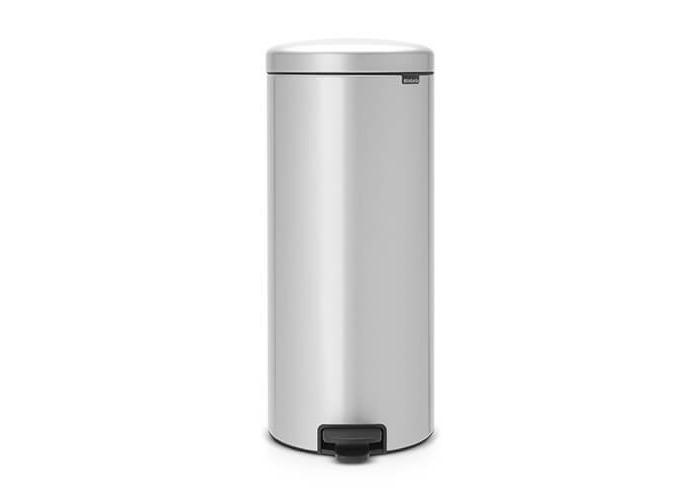 Brabantia Pedal Bin newIcon with Plastic Inner Bucket, 30 Litre - Metallic Grey - 1