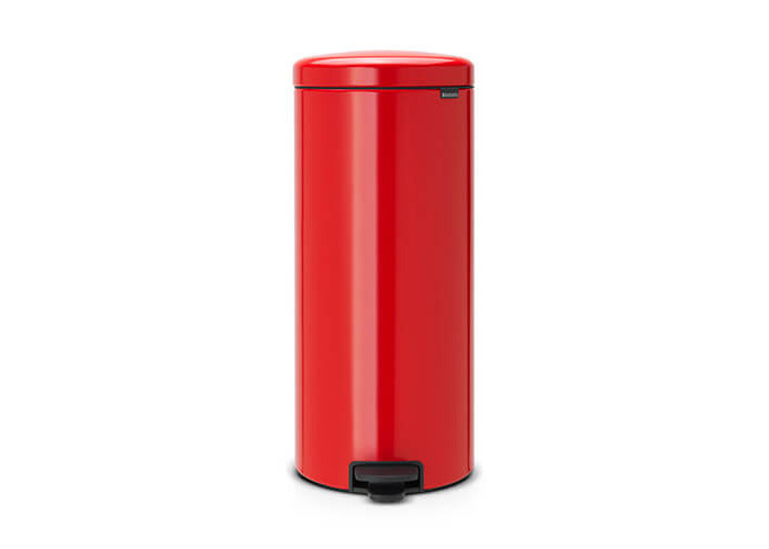 Brabantia Pedal Bin newIcon with Plastic Inner Bucket, 30 Litre - Passion Red - 1