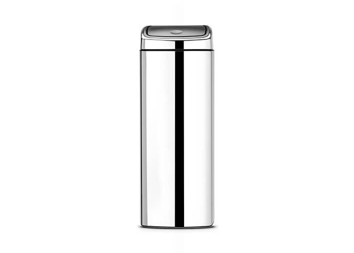 Brabantia Rectangular Touch Bin, 25 L - Brilliant Steel - 1