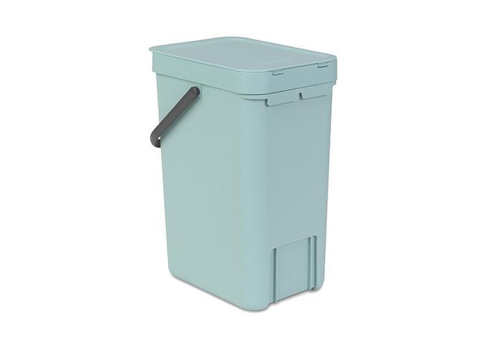 Brabantia Sort & Go Waste Bin, Plastic, Mint Green, 12 Litre - 2