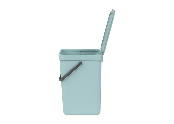 Brabantia Sort & Go Waste Bin, Plastic, Mint Green, 12 Litre - 1