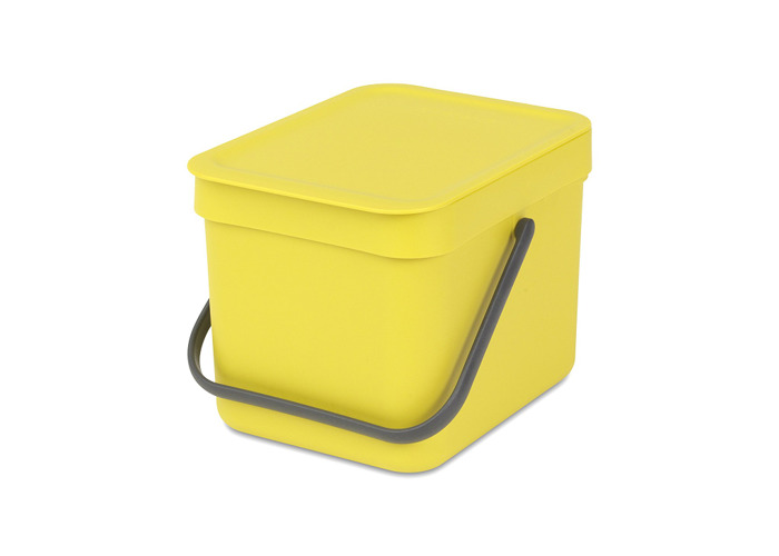 Brabantia Sort and Go Food Waste Caddy, Plastic, 6 L - 1