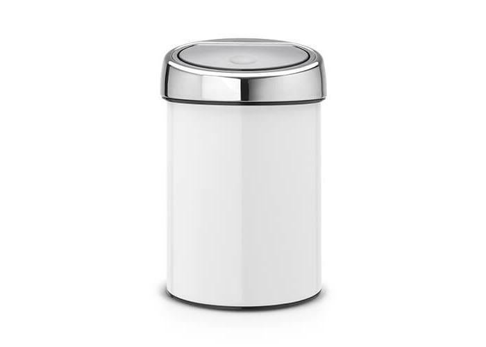 Brabantia Touch Bin, 3 L - White - 1