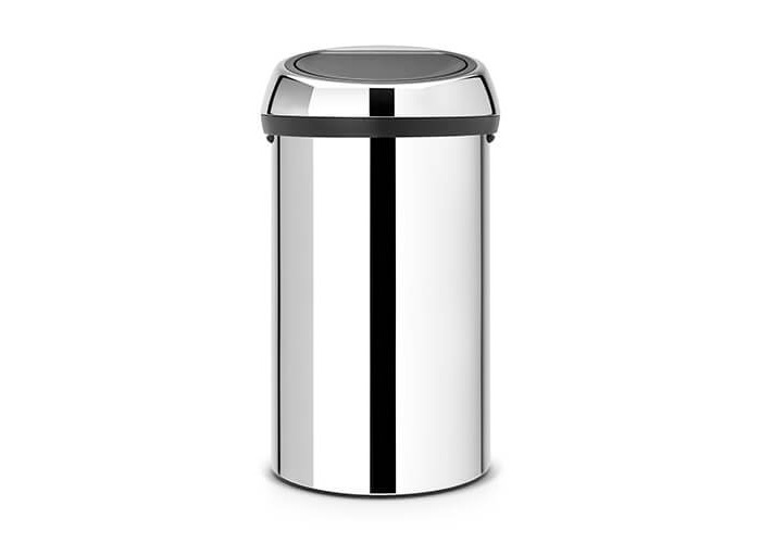 Brabantia Touch Bin, 60 L - Brilliant Steel - 1
