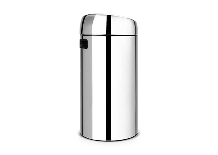 Brabantia Touch Bin Recycle with Twin Plastic Buckets, 2 x 20 L - Brilliant Steel - 2