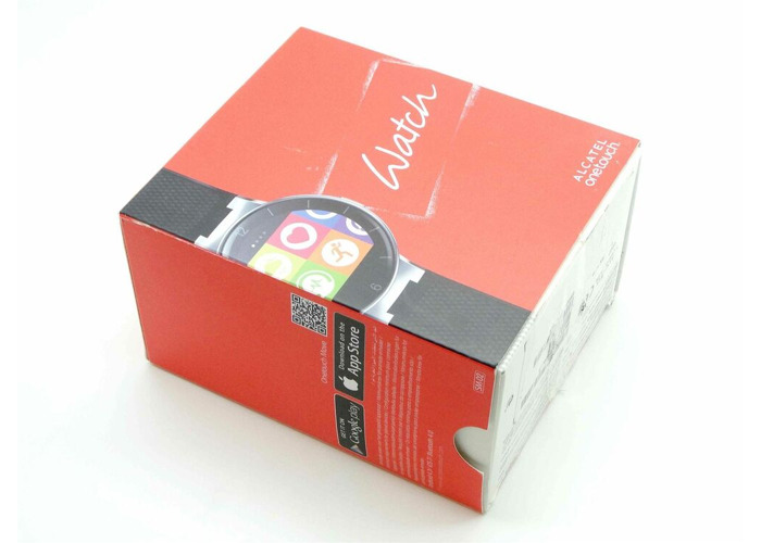 BRAND NEW ALCATEL ONETOUCH SMART WATCH SM02 - BLACK RED - 2