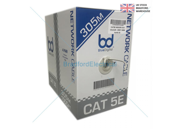 BRAND NEW ROLL OF 305M UTP CAT5E ETHERNET NETWORK CABLE SOLID FAST FREE SHIPPING - 1
