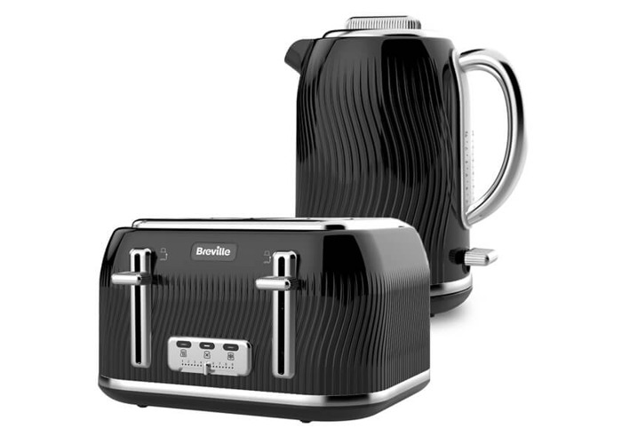 Breville Flow Kettle & Toaster Set Black - 1