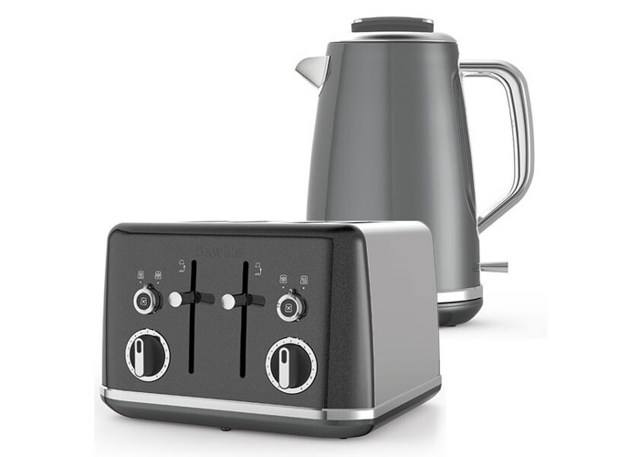 Breville Lustra Kettle & Toaster Set Grey - 1
