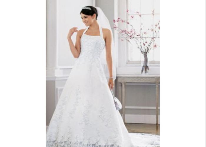 "Bridal Gown Size ""0"" Petite  - 1"