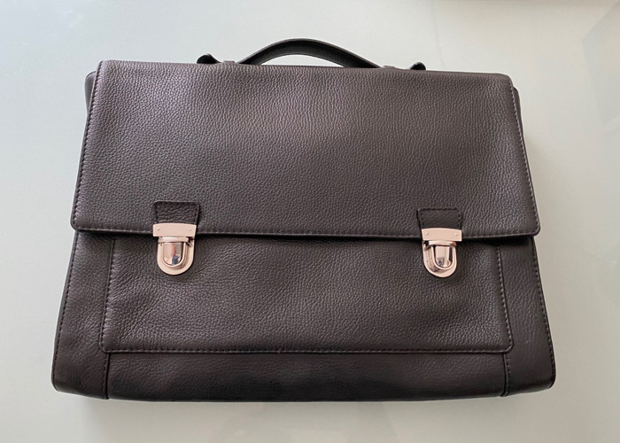 Reiss Briefcase leather (black) - 2